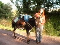 Randonnée avec un âne bâté dans les voies vertes